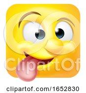 Poster, Art Print Of Funny Cheeky Emoji Emoticon Icon Cartoon Character
