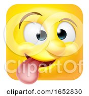 Funny Cheeky Emoji Emoticon Icon Cartoon Character