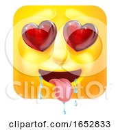 Poster, Art Print Of Love Or Lust Emoji Emoticon Icon Cartoon Character
