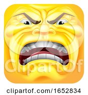 Angry Emoji Emoticon 3D Icon Cartoon Character