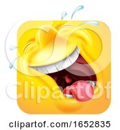 Poster, Art Print Of Laughing Emoji Emoticon Icon 3d Cartoon Character
