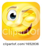 Winking Emoji Emoticon 3D Icon Cartoon Character