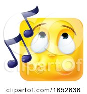Poster, Art Print Of Whistling Emoji Emoticon Icon 3d Cartoon Character
