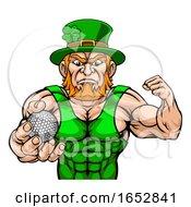 Poster, Art Print Of Leprechaun Holding Golf Ball Sports Mascot