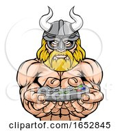 A Viking Warrior Gladiator Cartoon Sports Mascot