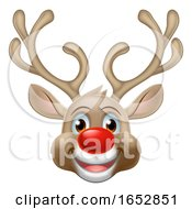 Christmas Reindeer Cartoon Character by AtStockIllustration