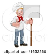 Chef Cook Baker Sign Cartoon