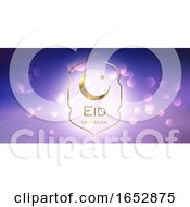 Elegant Eid Mubarak Banner Design by KJ Pargeter