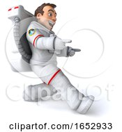 3d Cosmonaut On A White Background