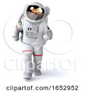 3d Cosmonaut On A White Background by Julos