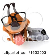 3d Puppy Dog On A White Background by Julos