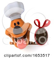 3d Puppy Dog Chef On A White Background by Julos