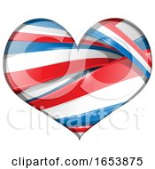 Poster, Art Print Of Heart Made Of French Flag Ribbon Banners
