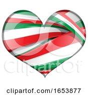 Poster, Art Print Of Heart Made Of Italian Flag Ribbon Banners