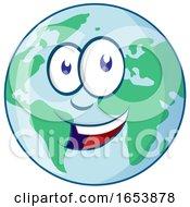 Cartoon Happy Earth Mascot