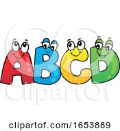 Cartoon ABCD Letter Characters by visekart