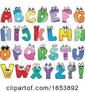 Cartoon Alphabet Letter Characters by visekart