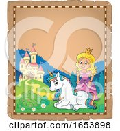 Fairy Tale Princess And Unicorn Border