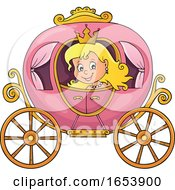 Fairy Tale Princess In A Carriage
