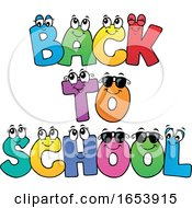 Cartoon Back To School Letter Characters