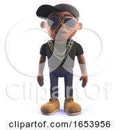 3d Cartoon Black Hip Hop Rap Singer Character
