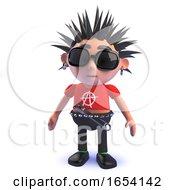 Punk Rocker 3d Character Standing Pensively