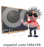 Punk Rock Character In 3d Teaching At The Blackboard by Steve Young