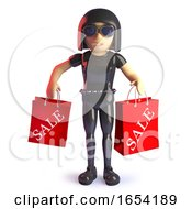 3d Gothic Style Girl Carrying Sale Shopping Bags