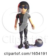 Cool 3d Gothic Styled Girl Wearing A Ball And Chain