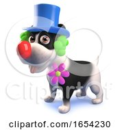 3d Puppy Dog Character Dressed As A Clown by Steve Young