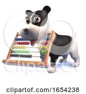 3d Puppy Dog Hound Holding An Abacus In Its Mouth