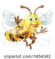 Bumble Bee Cartoon Character by AtStockIllustration