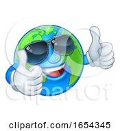 Earth Globe Shades Sunglasses Cartoon World Mascot