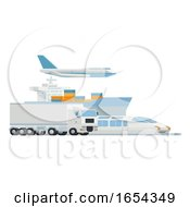 Transport Logistics Distributor Cargo Freight Art by AtStockIllustration