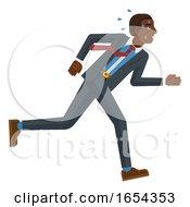 Business Man Stress Pressure Tired Running Concept