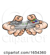 Poster, Art Print Of Gamer Hand Holding Video Gaming Game Controller