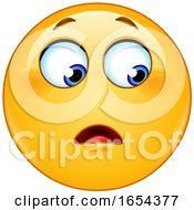 Poster, Art Print Of Cartoon Yellow Emoji Smiley Looking To The Side