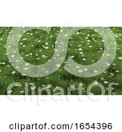 3D Landscape With Daisies And Buttercups