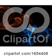 Abstract Background With Flowing Lines In Fire And Ice Colours