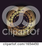 Elegant Background With Gold Circular Frame