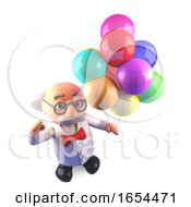 Mad Scientist Is Holding A Quantum Party With His Coloured Balloons by Steve Young