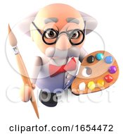 The Mad Scientist Is Also A Great Artist With His Paintbrush And Palette