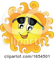 Smiling Summer Sun With Shades