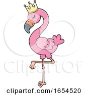 Crowned Pink Flamingo by visekart