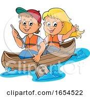 Boy And Girl Boating