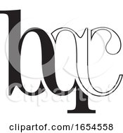 Black And White Abstract Letters Bqc Design