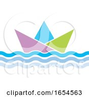 Floating Paper Boat