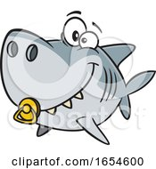 Cartoon Baby Shark With A Pacifier