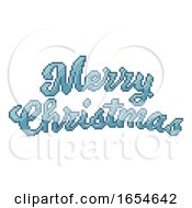 Poster, Art Print Of Merry Christmas 8 Bit Pixel Art Video Game Style