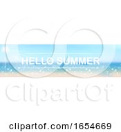 Hello Summer Beach And Sky Banner by dero